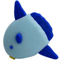 Blue Fish Eraser  From Iwako