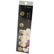 Gold Foil Cherry Blossom Stickers  From AFG