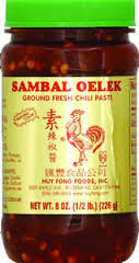 Chili, Sambal Olek, 24 of 8 OZ, Huy Fong