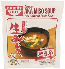 Instant Red Miso Soup with Tofu 2.8 oz  From Orient Chef