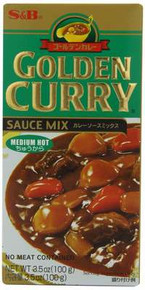 Curry Mix, Medium Hot, 12 of 3.5 OZ, S&B Golden
