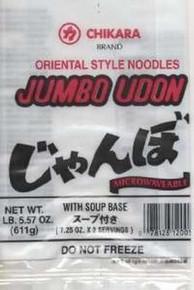 Udon Noodles Jumbo w/o Soup, 12 of 21 OZ, Chikara