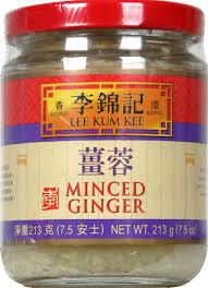 Ginger, Minced, 12 of 7.5 OZ, Lee Kum Kee
