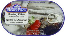 Herring, Horseradish Sauce, 16 of 7.05OZ, Rugenfisch