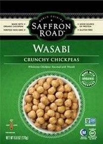 Crunchy Chickpeas, Wasabi, 8 of 6 OZ, Saffron Road