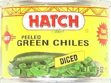 Green Chilies, Hot, Diced, 24 of 4 OZ, Hatch