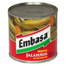 Jalapeno, Whole, 12 of 12 OZ, Embasa