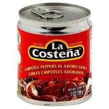 Peppers, Chipotle, 24 of 7 OZ, La Costena