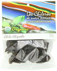 Chile Chipotle, Whole, 6 of 2 OZ, Los Chileros