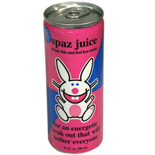 Happy Bunny Spaz Juice Energy Drink 8.4 oz  From Boston America