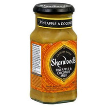 Cooking Sauce, Pineapple Coconut, 6 of 14.1 OZ, Sharwood