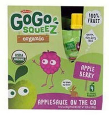 Apple Berry, 12 of 4 of 3.2 OZ, Gogo Squeez