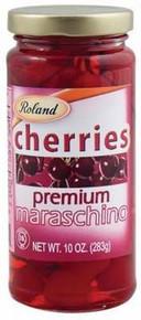 Marachino Cherries, Premium, 12 of 10 OZ, Roland
