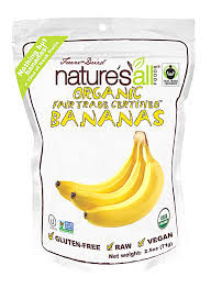 Banana, Fair Trade Raw, 12 of 2.5 OZ, Nature'S All Foods