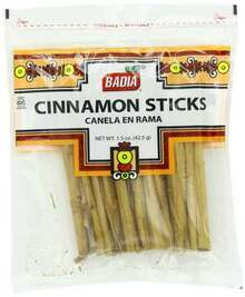 Cinnamon Sticks, 12 of 1.5 OZ, Badia Spices