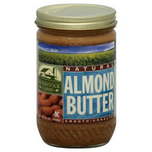Almond, Creamy, No Salt, 12 of 16 OZ, Woodstock