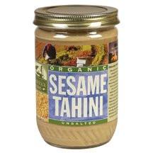 Sesame Tahini, Unsalted, 12 of 16 OZ, Woodstock