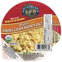 Brown Rice, Short Grain, 12 of 7.4 OZ, Lundberg