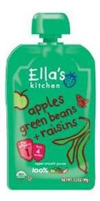 Apple Greenbean Raisin, 12 of 3.5 OZ, Ella'S Kitchen