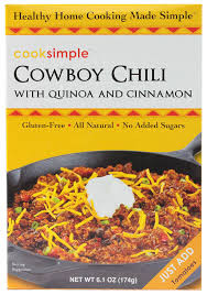 Cowboy Quinoa Chili, 6 of 6.1 OZ, Cooksimple
