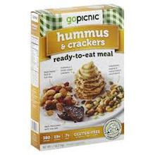 Hummus & Crackers, 6 of 4.1 OZ, Gopicnic