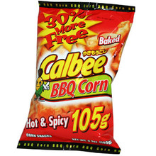 Calbee Barbecue Corn Hot and Spicy  From Calbee
