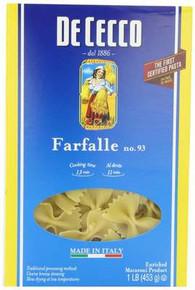 Farfalle No.93, 20 of 16 OZ, Dececco