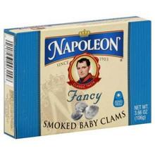 Baby Clams, Smoked, 3.66 OZ, Napoleon Co.