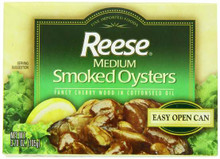 Medium Smoked Oyster, 10 of 3.7 OZ, Reese