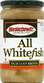 All Whitefish, Jellied, 12 of 24 OZ, Manischewitz