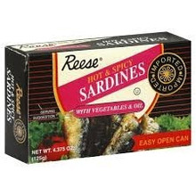 Hot & Spicy Sardines Olve Oil, 10 of 4.37 OZ, Reese