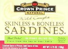 In Olive Oil, Skinless & Boneless, 12 of 3.75 OZ, Crown Prince