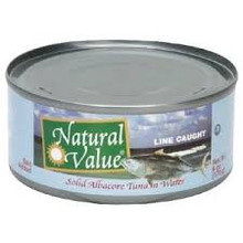 Albacore, Salted, 24 of 5 OZ, Natural Value