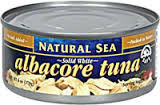 Albacore, Solid White, No Salt, 12 of 5 OZ, Natural Sea
