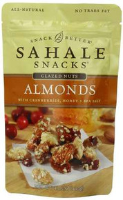Almonds w/Cranberries, Honey, Salt, 6 of 4 OZ, Sahale Snacks