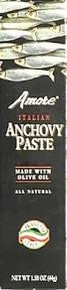 Paste, Anchovy, 24 of 1.58OZ, Amore