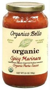 Spicy Marinara, 6 of 25 OZ, Organico Bello
