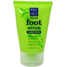 Foot Scrub, Peppermint, 4 OZ, Kiss My Face