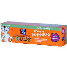 Berry Smart Toothpaste w/Fluoride, 4 OZ, Kiss My Face