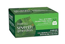 Kitchen, Tall Garbage w/Drawstrings, 12 of 20 CT, Seventh Generation