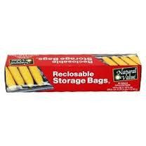 Storage Bags, Recloseable, Gal, 12 of 20 CT, Natural Value