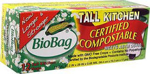 Waste Bags, 13 Gallon, 12 of 12 CT, Biobag