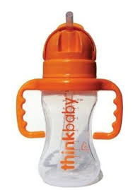 Bottle W/Straw, 9 OZ, Thinkbaby