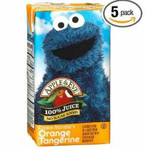 Cookie Monster's Orange Tangerine, 40 of  125ML, Apple & Eve