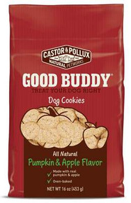 Dog Cookie, Pumpkin & Apple, 8 of 16 OZ, Castor & Pollux