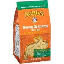 Bunny Grahams Honey 12 of 6 OZ By ANNIE`S HOMEGROWN