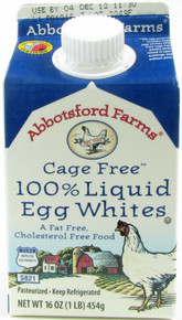100% Liq Egg Whites Cage Free 12 of 16 OZ Abbotsford Farms