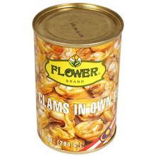 Flower Baby Clams 10 oz  From Sun Hing