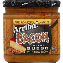 Bacon Queso Fire Roasted Med 6 of 16 OZ By ARRIBA!