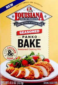 Seasoned Coating Mix,Panko Bake 12 of 4.5 OZ By LOUISIANA FISH FRY